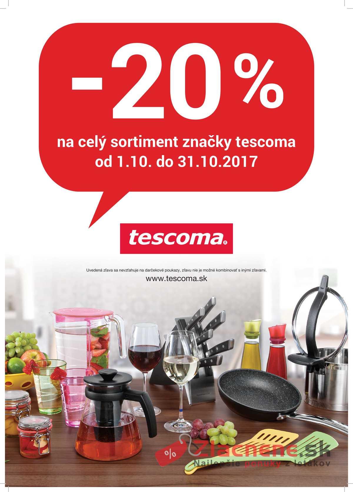 Leták Tescoma - Tescoma 1.10. - 31.10. - strana 1