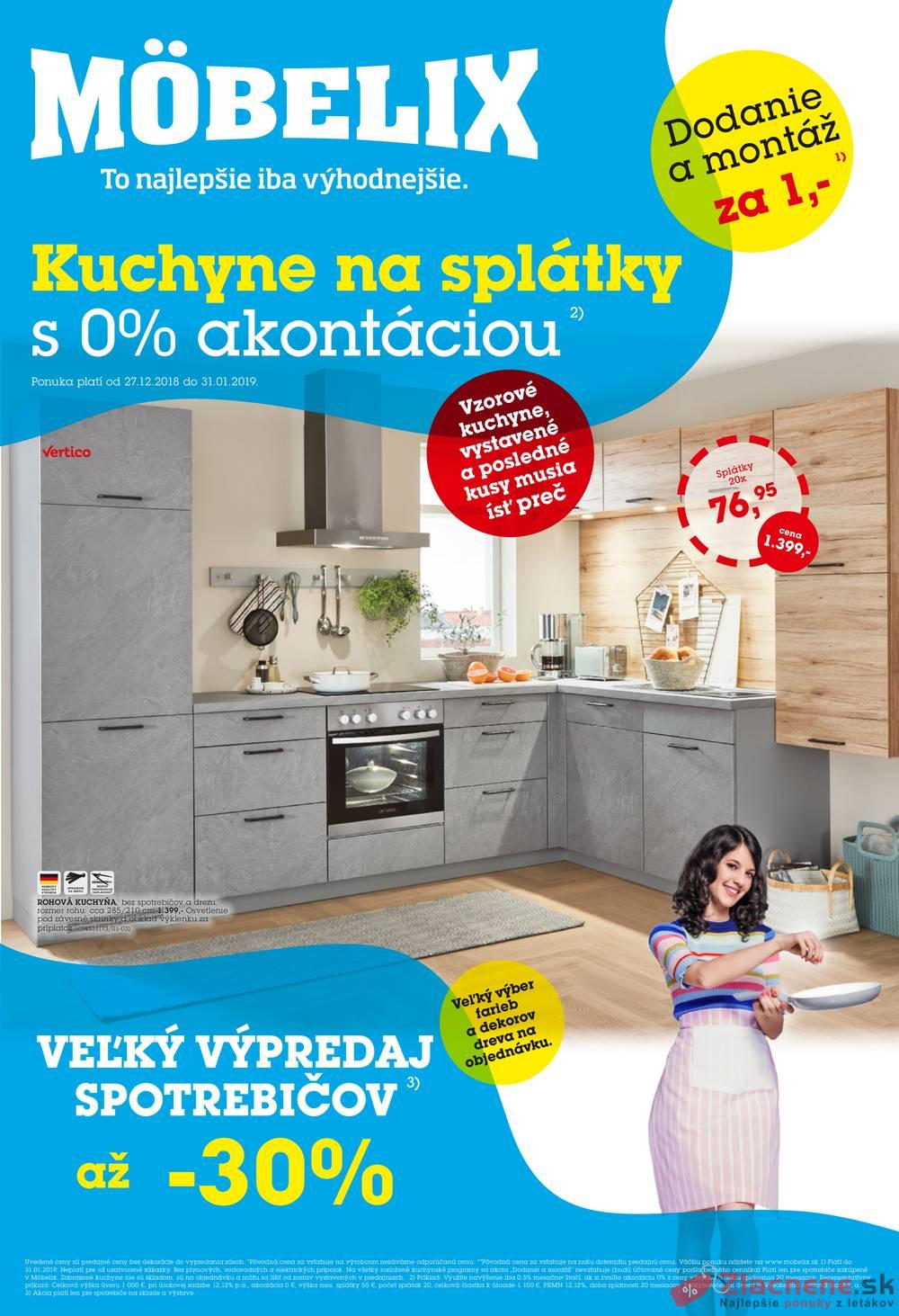 Leták Möbelix - Möbelix 27.12. - 31.1. Kuchyne - strana 1