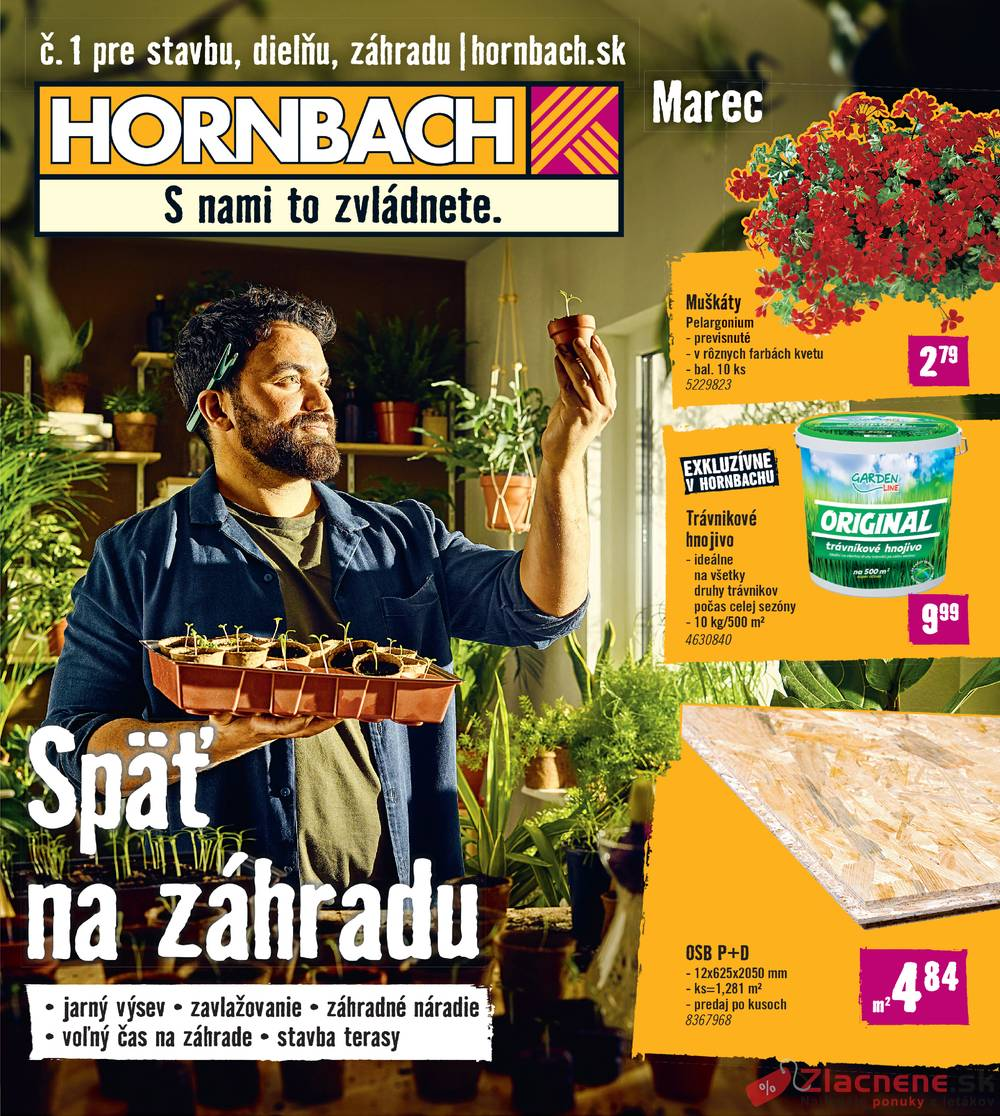 Leták Hornbach - Hornbach 27.2. do 26.3. - strana 1