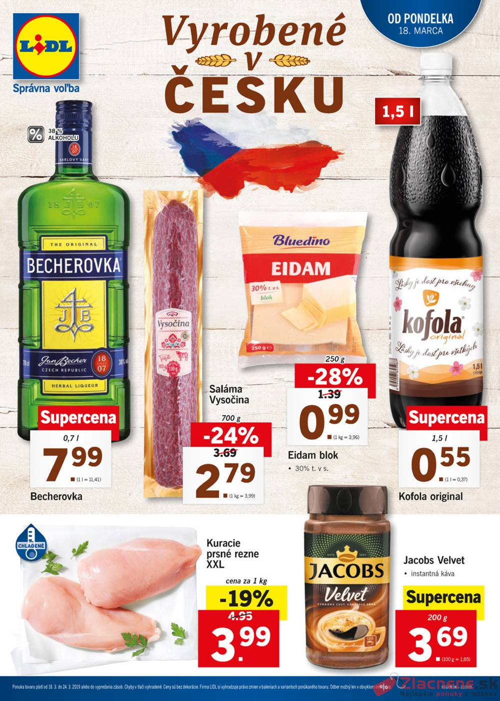 Leták Lidl - Lidl Vyrobeno v Česku 18.3. - 24.3. - strana 1