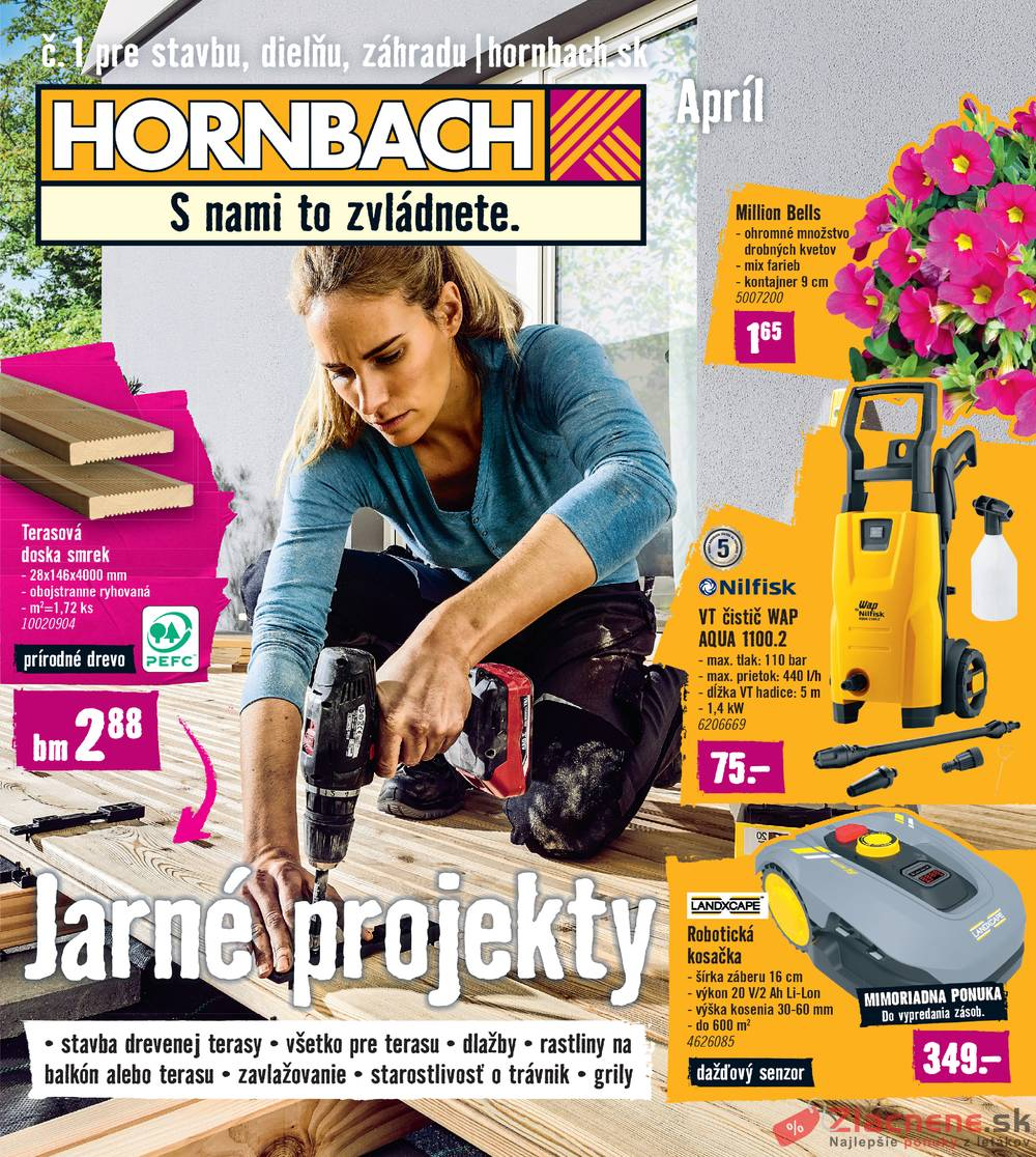 Leták Hornbach - Hornbach 27.3. do 30.4. - strana 1