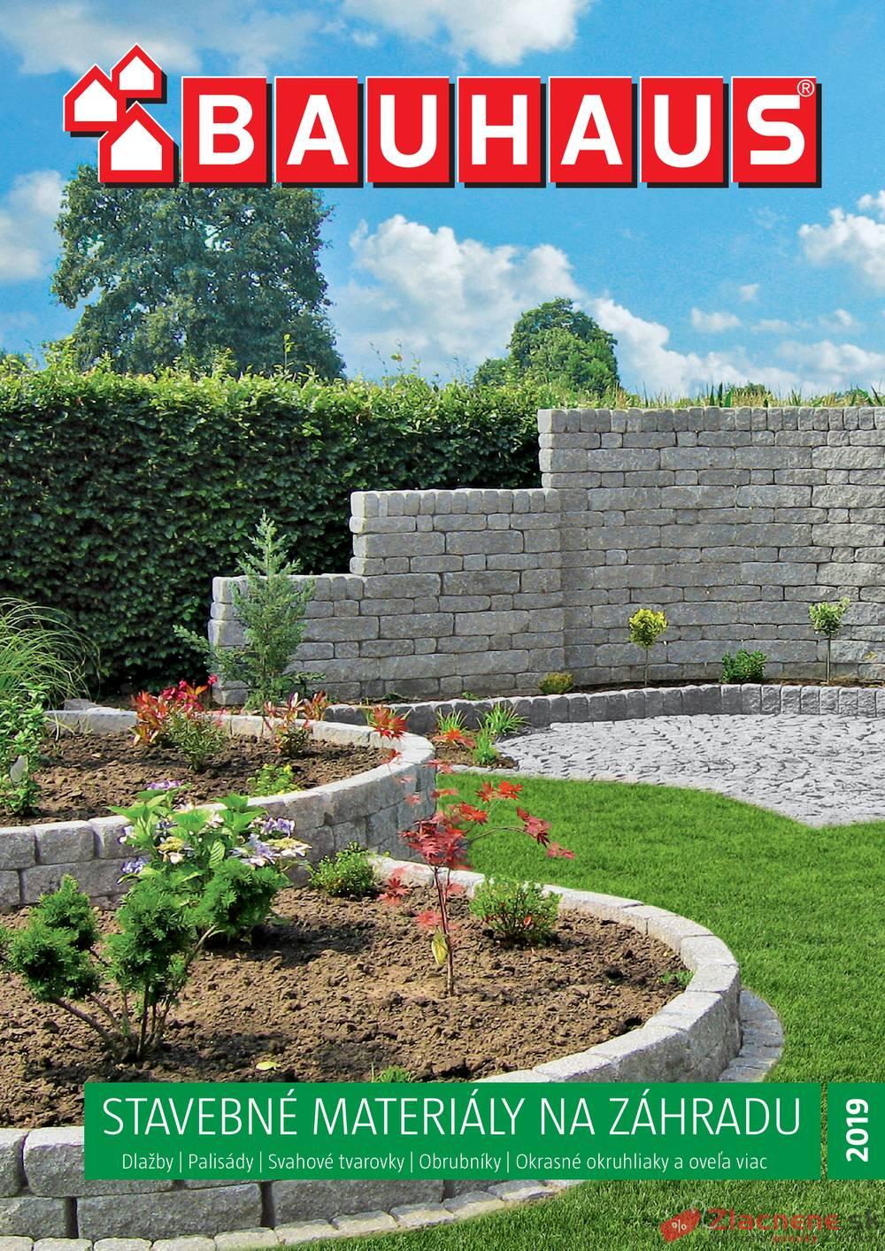 Leták Bauhaus - Bauhaus Stavebné materiály na záhradu 9.4. - 31.8. - strana 1