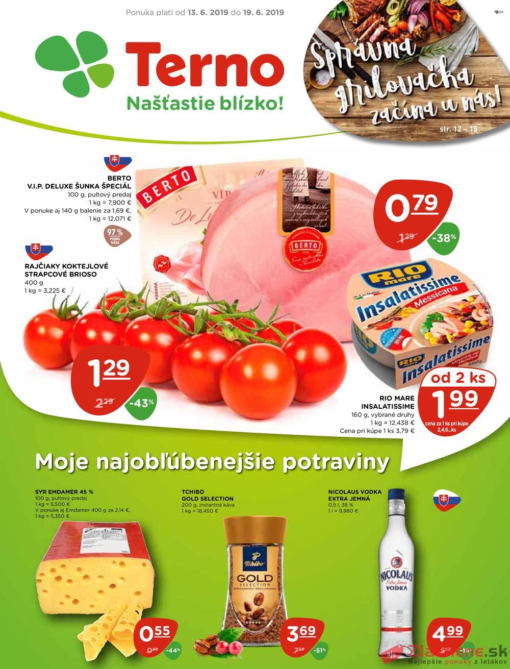 Leták TERNO - Terno  od 13.6. do 19.6.2019 - strana 1