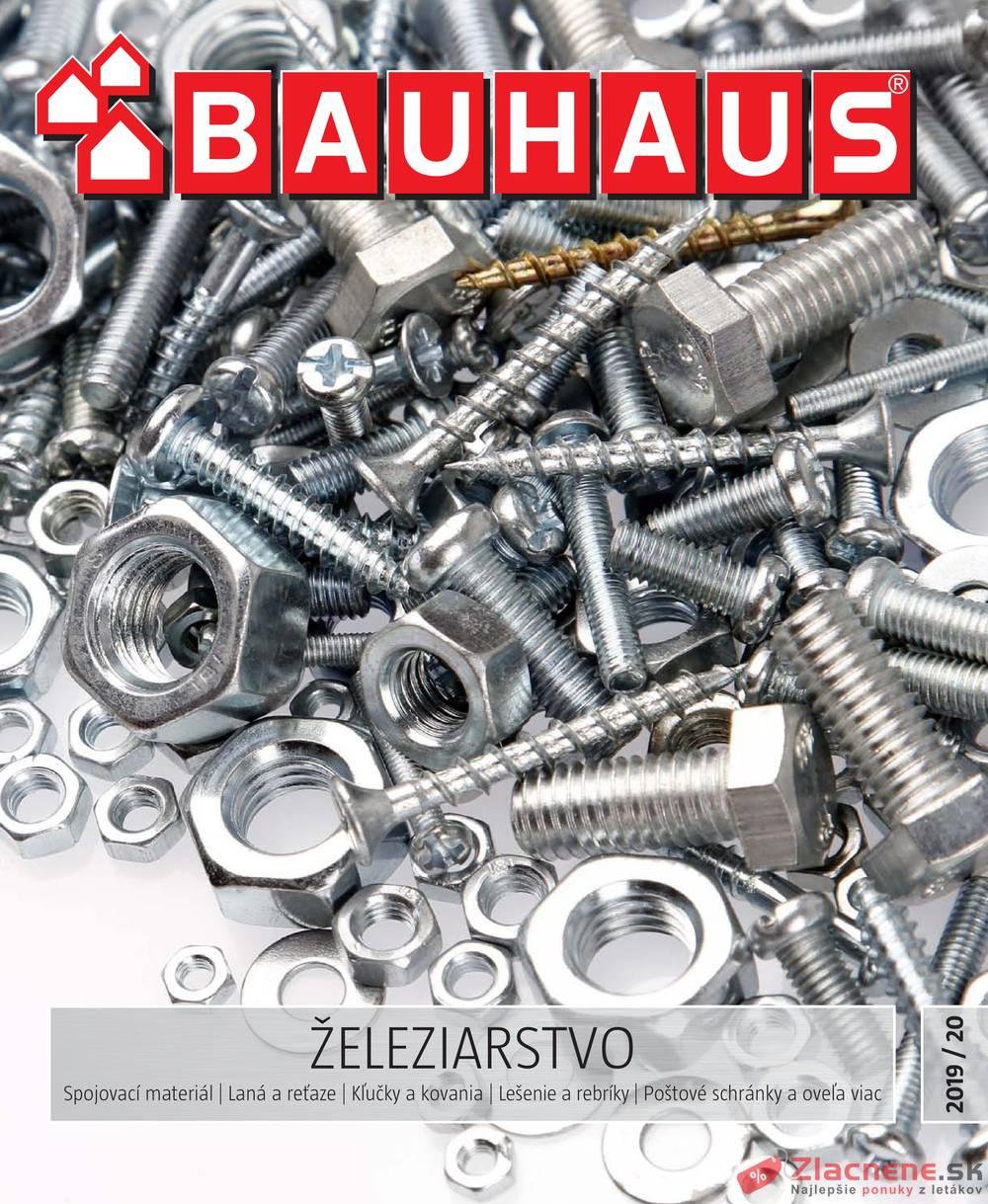 Leták Bauhaus - Bauhaus ŽELEZIARSTVO 19.11. - 30.6. - strana 1