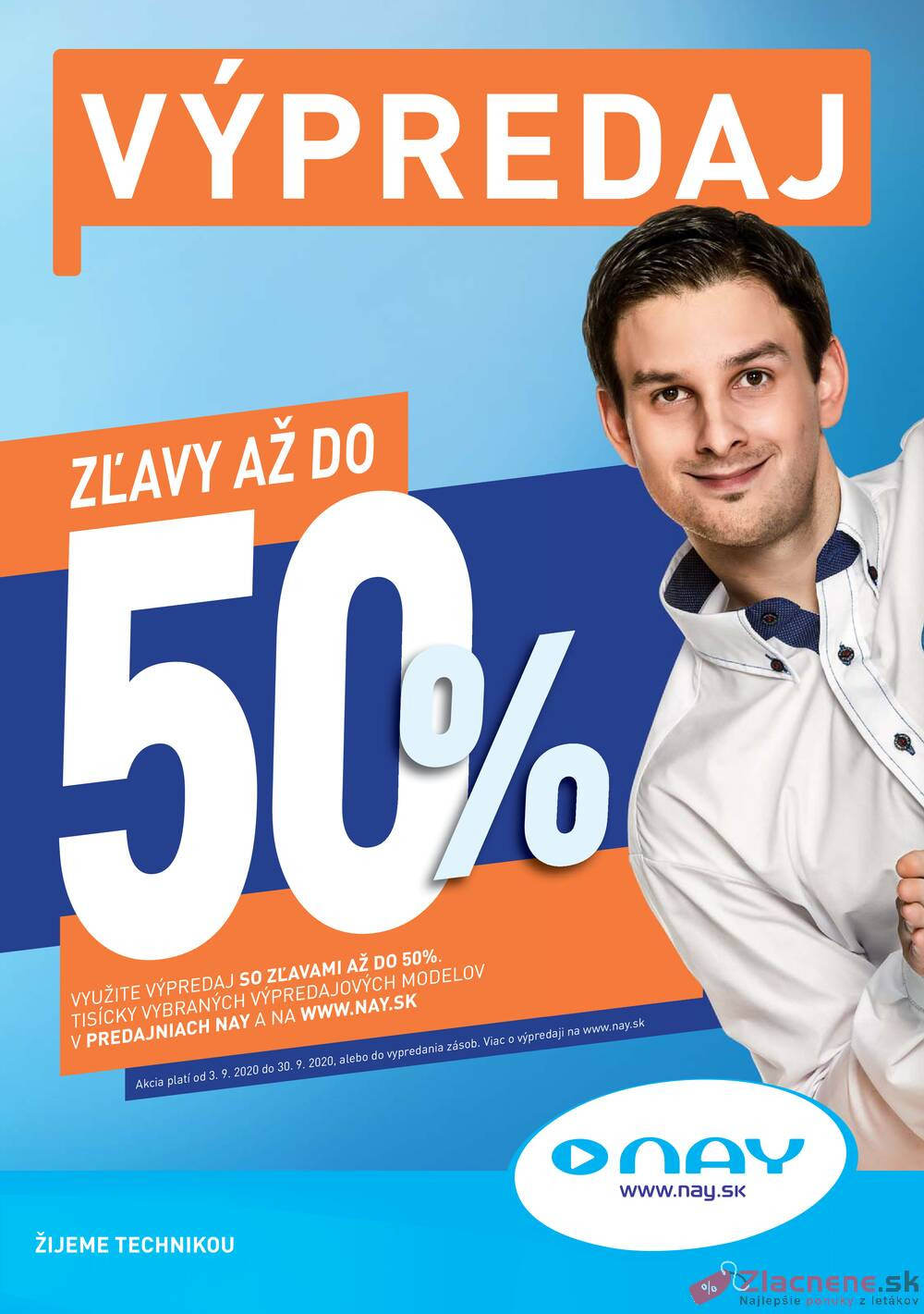 Leták NAY - NAY od 3.9. do 30.9.2020 - strana 1