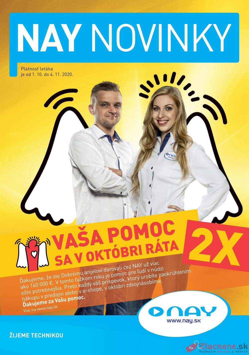 Leták NAY - NAY od 1.10. do 4.10.2020 - strana 1