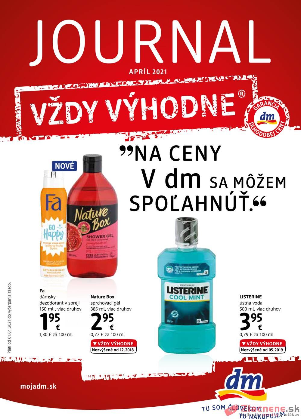 Leták dm drogerie markt - DM drogerie  od 1.4. do 30.4.2021 - strana 1