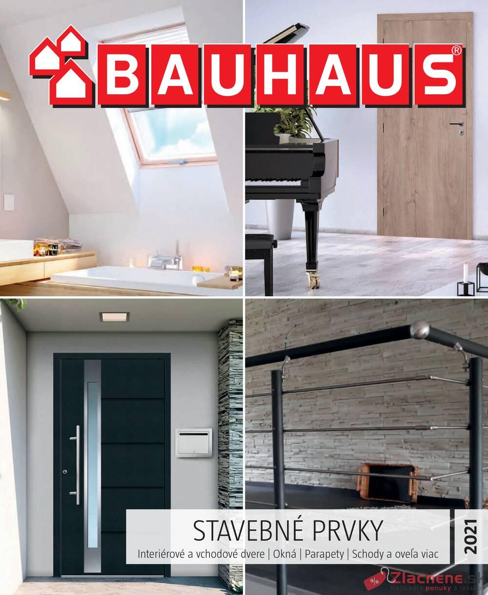 Leták Bauhaus - Bauhaus STAVEBNÉ PRVKY 28.6. - 30.9. - strana 1