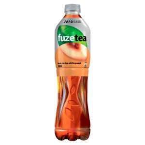 FuzeTea White Peach Zero čierny ľadový čaj 1,5 l