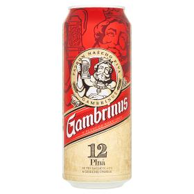 Gambrinus Plná 12 pivo ležiak svetlý 500 ml Plechovka