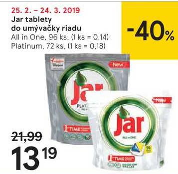 Jar tablety do umývačky riadu, Platinum 72 ks, All in One 96 ks