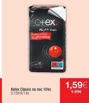 Kotex Classic na noc 10 ks